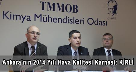 Ankara'nın 2014 Yılı Hava Kalitesi Karnesi: KİRLİ