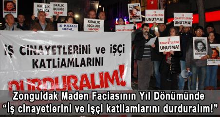 """Zonguldak Maden Faciasının Yıl Dönümünde """"İş cinayetlerini ve işçi katliamlarını durduralım"""""""