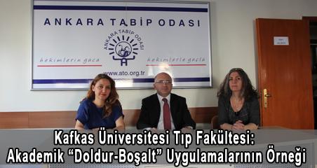 """Kafkas Üniversitesi Tıp Fakültesi: Akademik """"Doldur-Boşalt"""" Uygulamalarının Tipik Bir Örneği"""