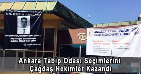 Ankara Tabip Odası Seçimlerini Çağdaş Hekimler Kazandı